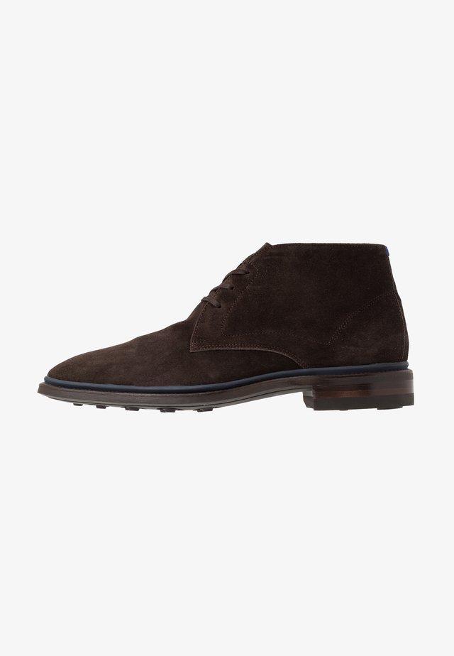 BUMPI - Volnočasové šněrovací boty - dark brown
