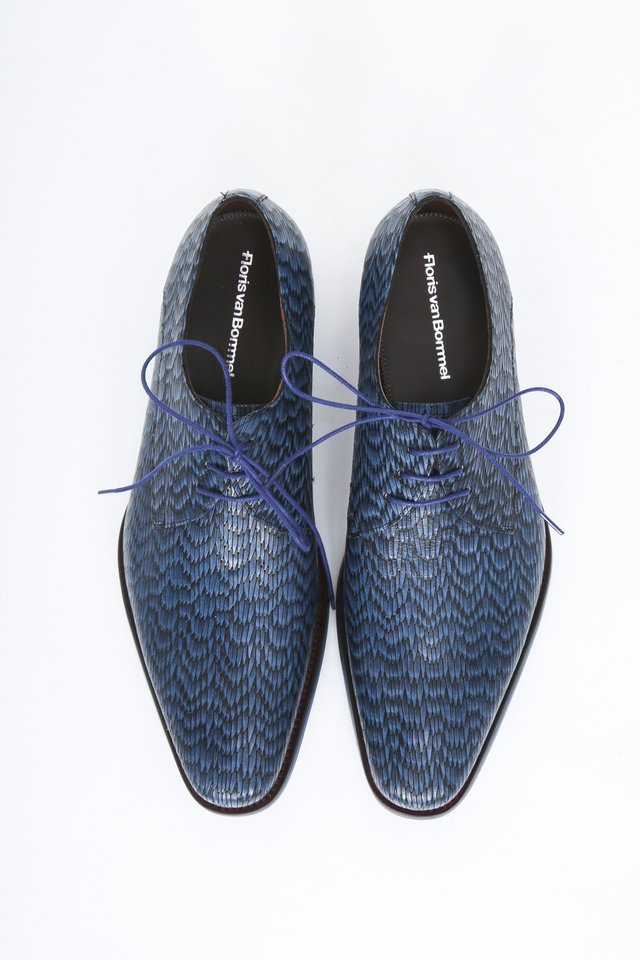 Smart lace-ups - blue print