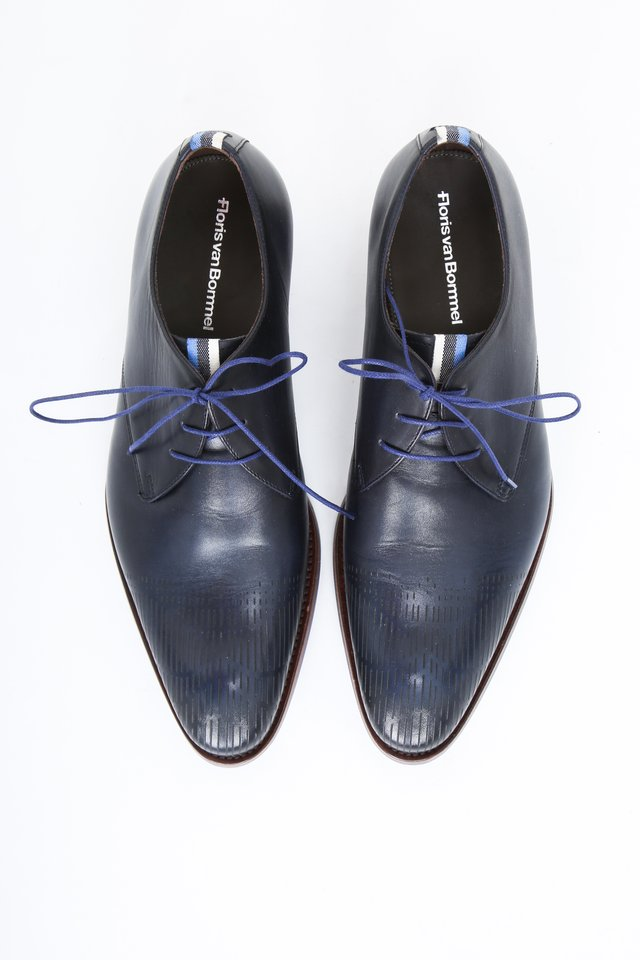 Smart lace-ups - blue calf