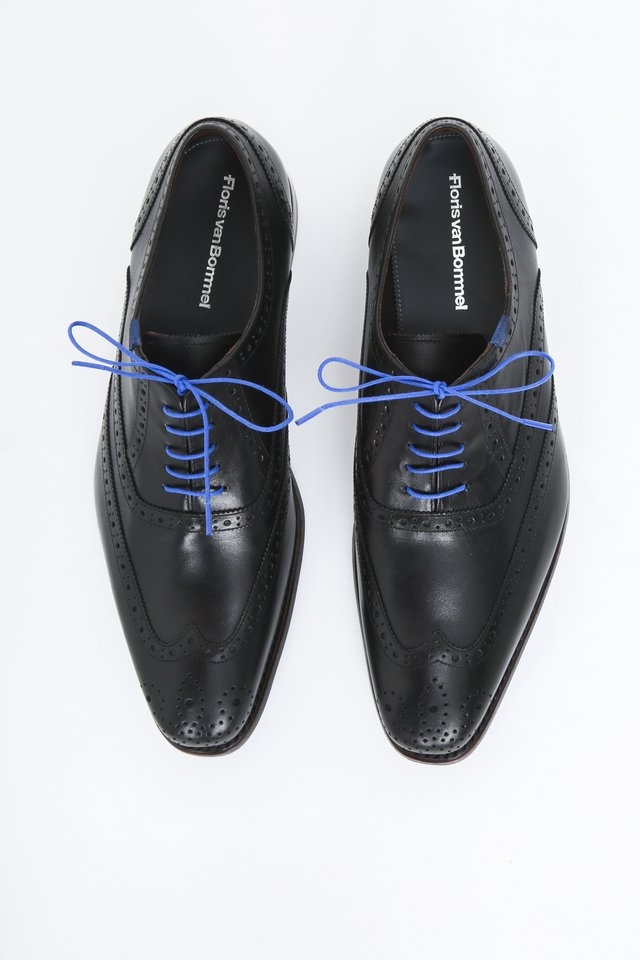 Smart lace-ups - black calf