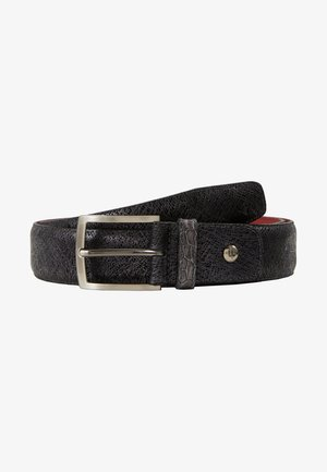 DRESS BELT - Pasek - black metalic