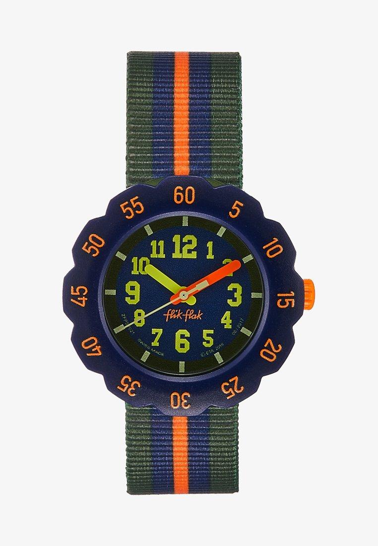 Flik Flak - ORANGE LINE - Reloj - blue
