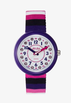 STRIPE UP YOUR LIFE - Uhr - lila pink