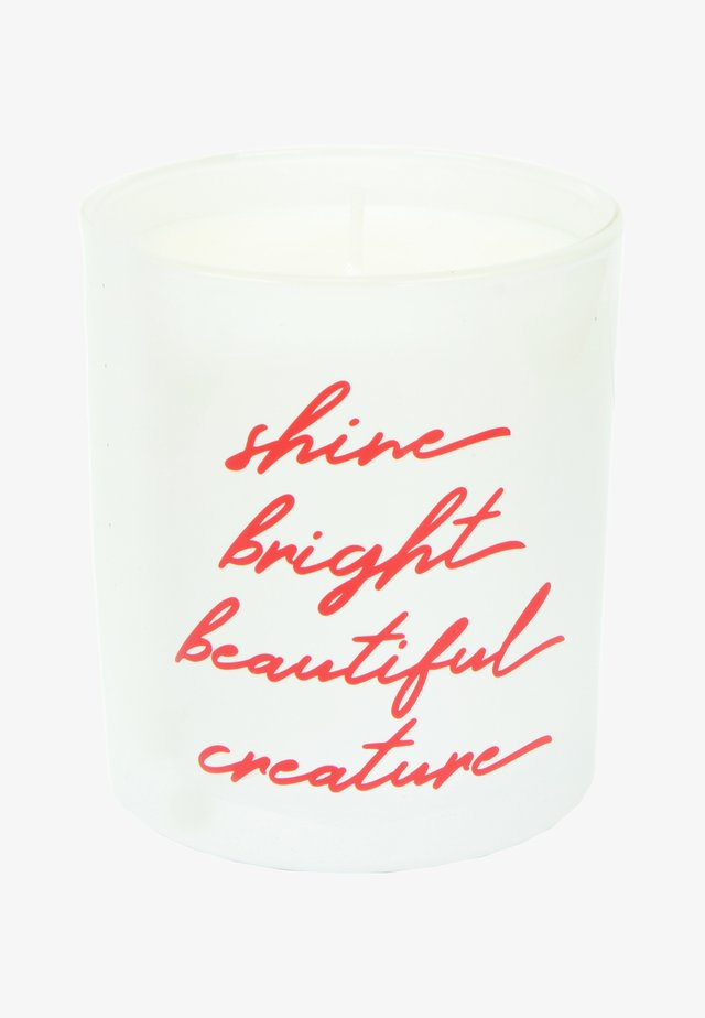 CANDLE - Geurkaars - shine bright - white rose velvet & precious oud