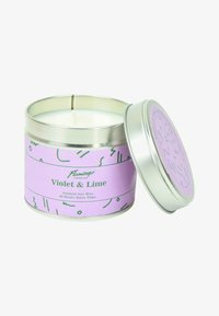 Flamingo Candles - TIN CANDLE - Duftlys - purple violet & lime purple squiggle - 0