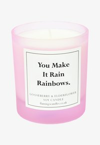 Flamingo Candles - CANDLE - Scented candle - you make it rain rainbows - pink gooseberry & elderflower - 0
