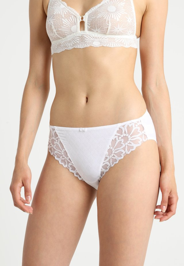 JACQUELINE BRIEF - Alushousut - white