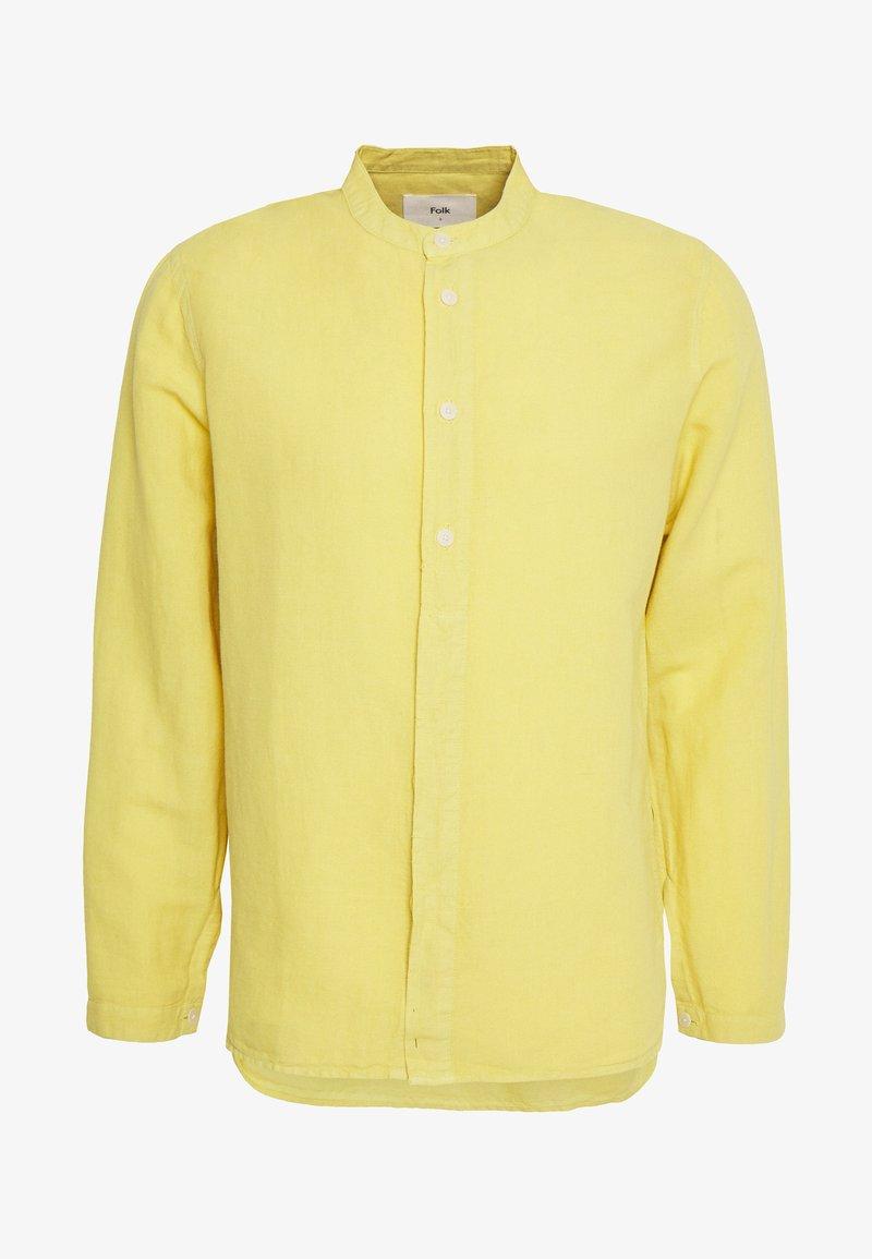 Folk - HALF PLACKET GRANDAD - Shirt - light gold