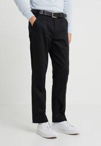 Folk - CLEAN TWILL - Pantalon classique - black - 0