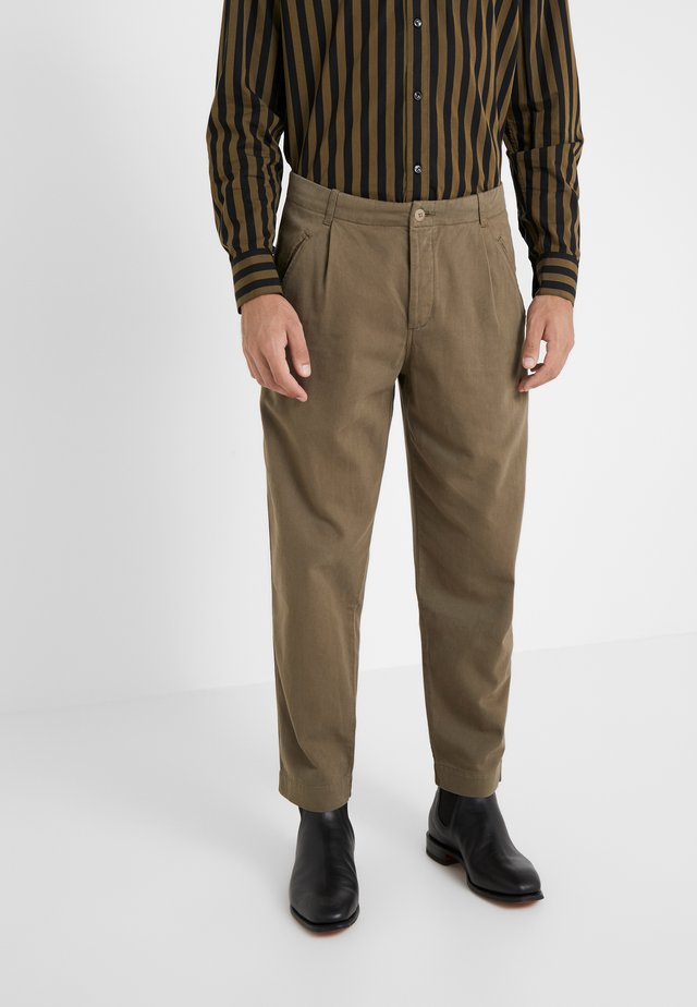 ASSEMBLY PANTS - Trousers - soft green brushed