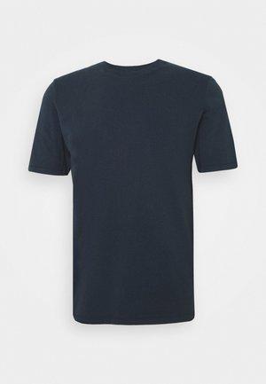 CONTRAST SLEEVE TEE - T-shirts - navy