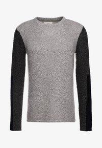 Folk - TEXTURED CREW - Sweter - stone/black - 3