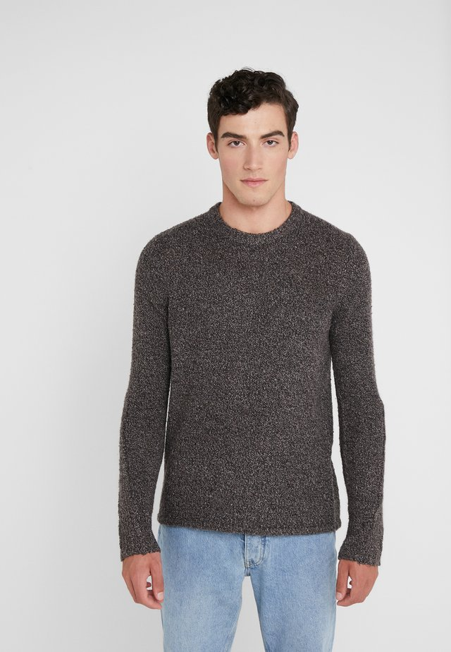 TEXTURED CREW - Jumper - black