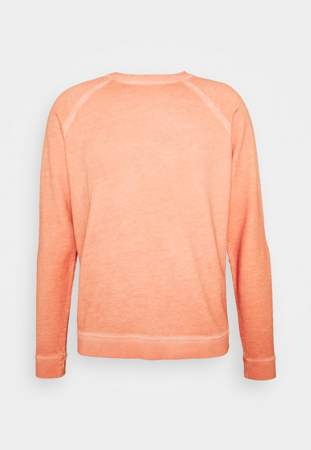 COLD DYE RIVET SWEAT - Bluza - coral orange
