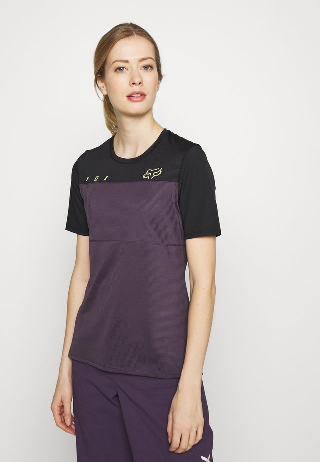 WOMENS FLEXAIR  - Print T-shirt - dark purple