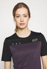Fox Racing - WOMENS FLEXAIR  - T-Shirt print - dark purple - 3