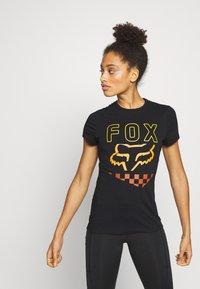 Fox Racing - RICHTER TEE  - Print T-shirt - black - 0