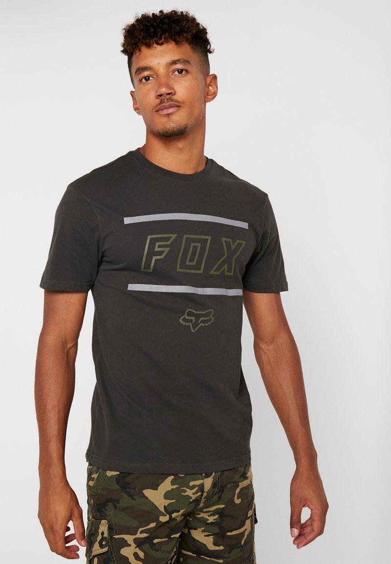 Fox Racing - MIDWAY AIRLINE TEE - Print T-shirt - blackdark grey