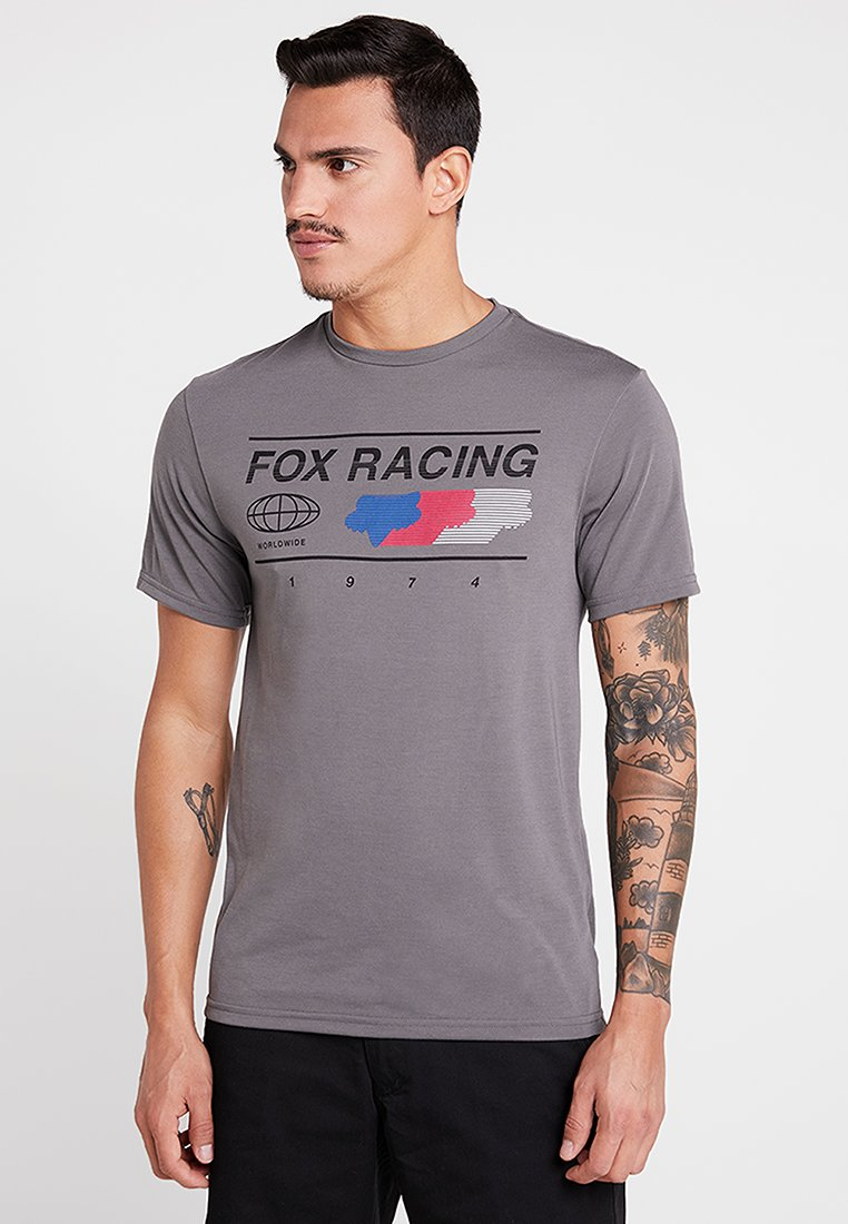 Fox Racing - GLOBAL TECH TEE - Printtipaita - grey