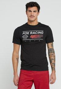 Fox Racing - GLOBAL TECH TEE - T-Shirt print - black - 0