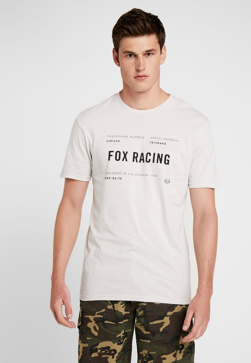 Fox Racing - STANDARD ISSUE PREMIUM TEE - T-Shirt print - light grey