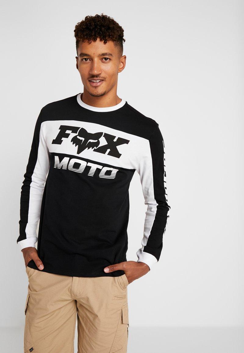Fox Racing - CHARGER AIRLINE - Camiseta de manga larga - black/white