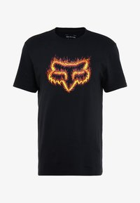 Fox Racing - FLAME HEAD TEE - Print T-shirt - black - 3
