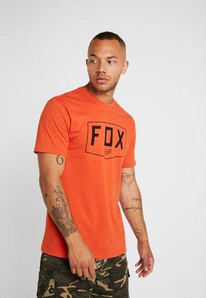 SHIELD PREMIUM TEE - T-shirt imprimé - orange