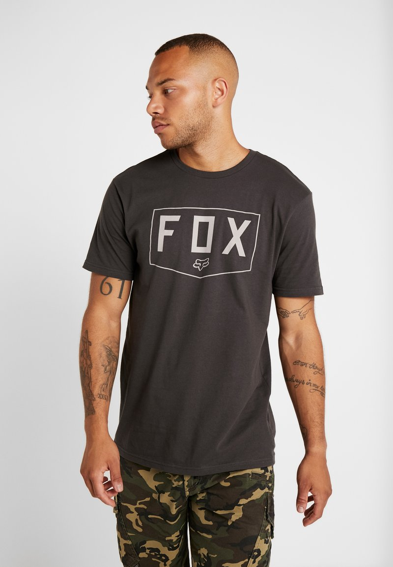 Fox Racing - SHIELD PREMIUM TEE - T-shirt print - black vintage