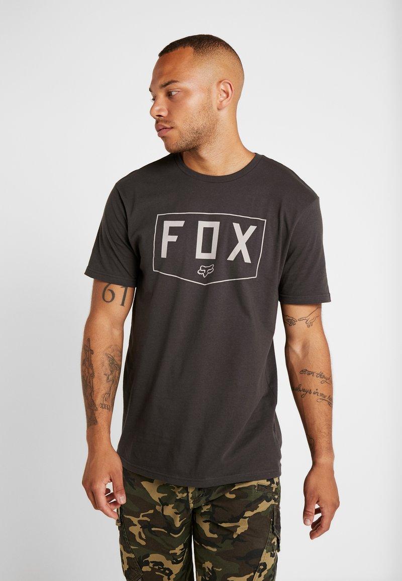 Fox Racing - SHIELD PREMIUM TEE - Printtipaita - black vintage