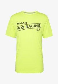 Fox Racing - BANNER TECH TEE - Triko spotiskem - lime - 3