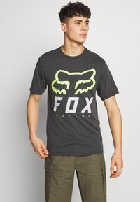Fox Racing - HERITAGE FORGER TECH TEE - T-Shirt print - black/green - 0
