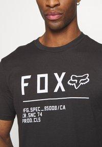Fox Racing - NON STOP PREMIUM TEE - Print T-shirt - black/white - 4