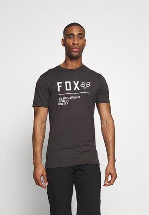 NON STOP PREMIUM TEE - T-Shirt print - black/white