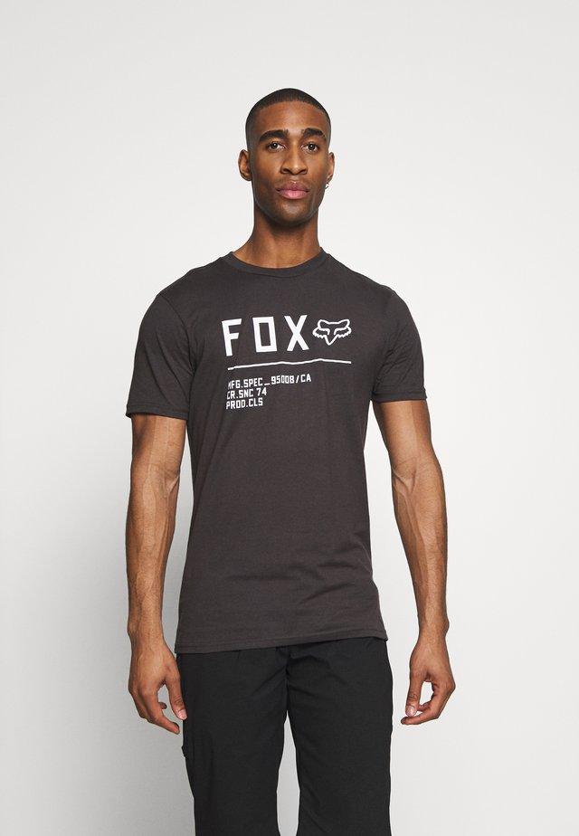 NON STOP PREMIUM TEE - Print T-shirt - black/white