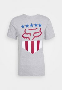 Fox Racing - FREEDOM SHIELD TEE - T-Shirt print - mottled grey - 0