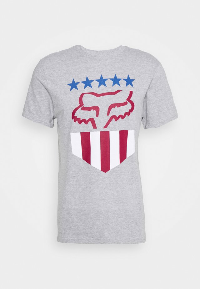 FREEDOM SHIELD TEE - T-shirt print - mottled grey