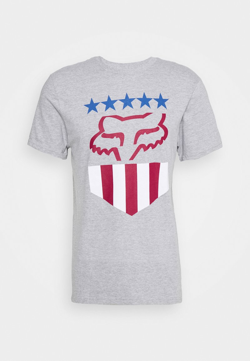 Fox Racing - FREEDOM SHIELD TEE - T-Shirt print - mottled grey