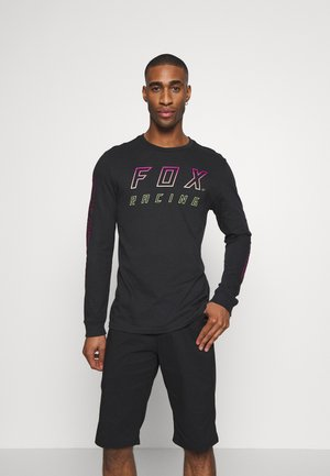 NEON MOTH TEE - Long sleeved top - black