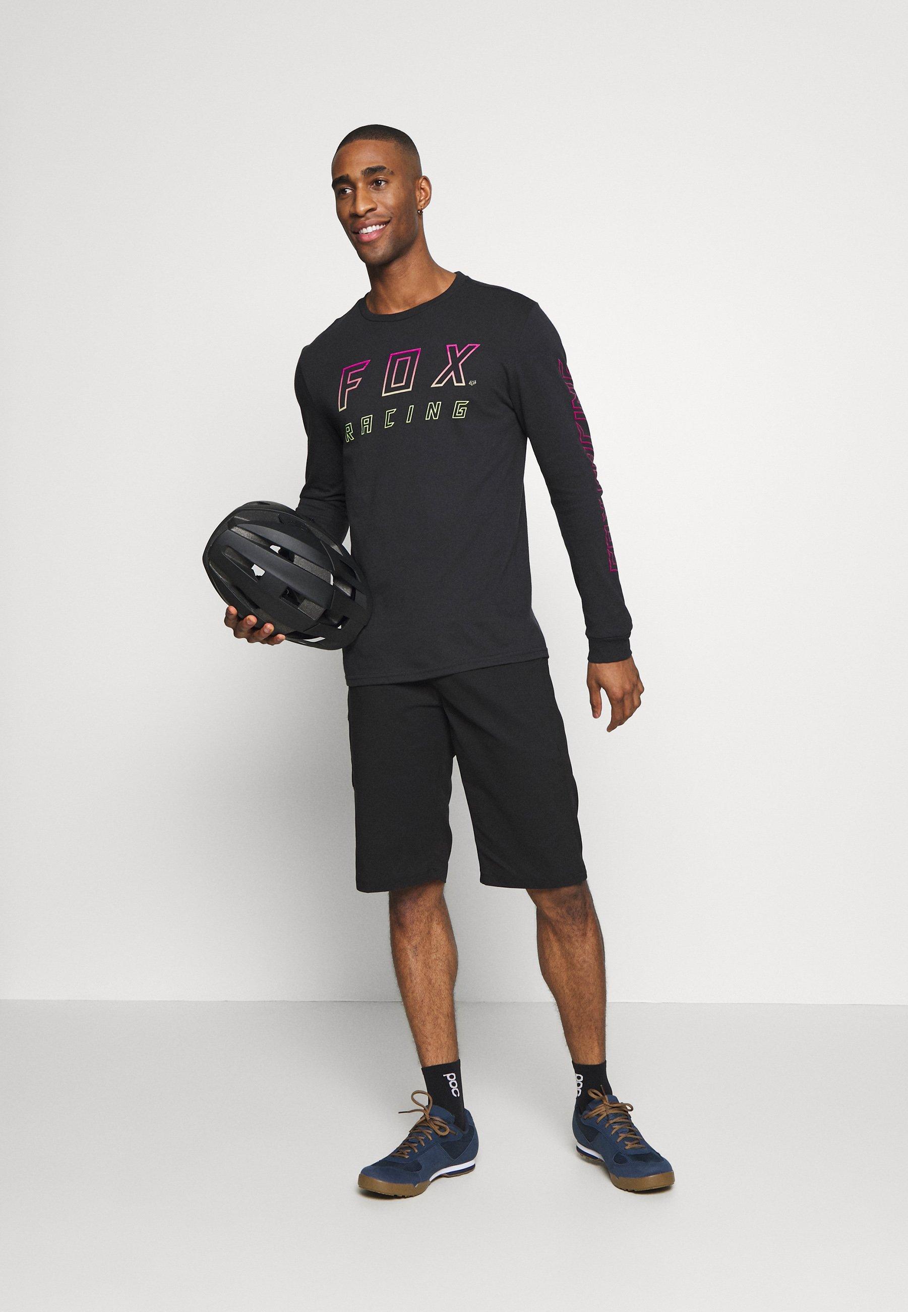 Fox Racing NEON MOTH TEE - Bluzka z długim rękawem - black
