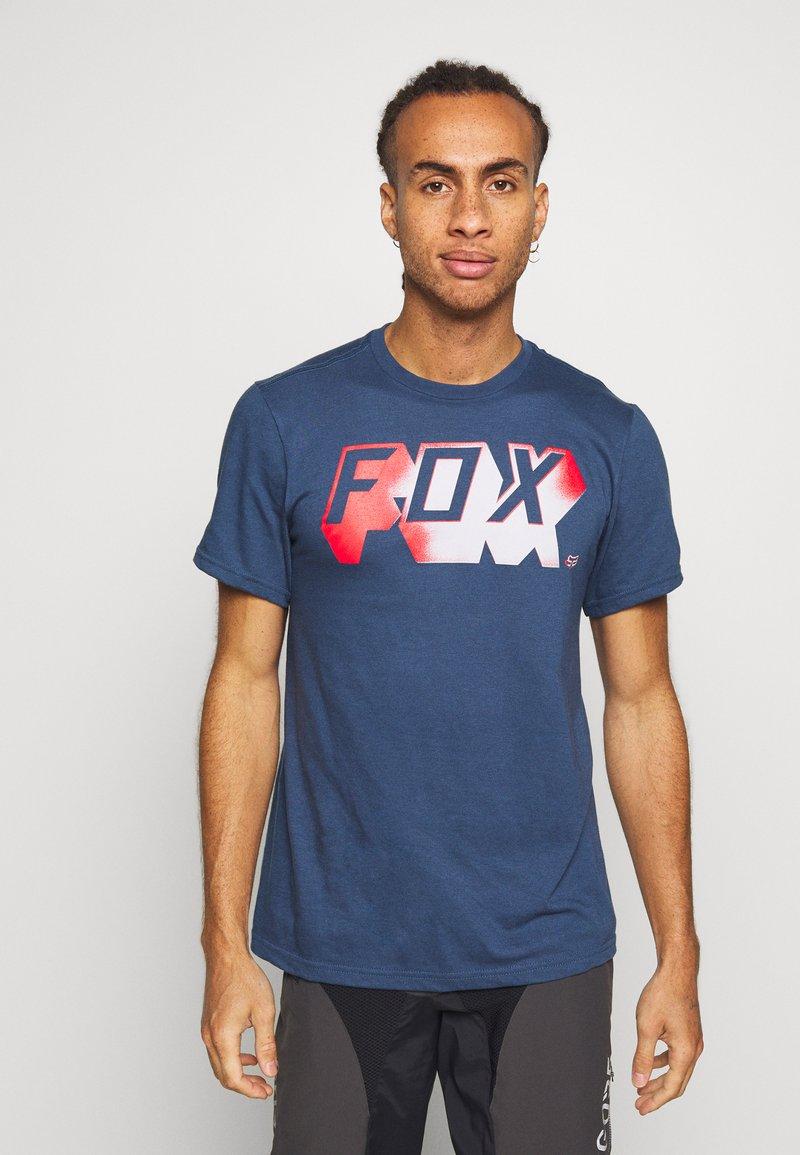 Fox Racing - TEE - T-Shirt print - dark blue