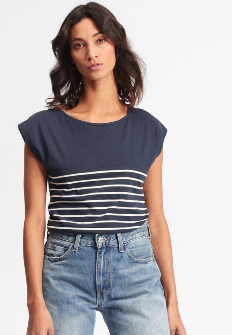 Forvert - TALOK - Print T-shirt - dark blue