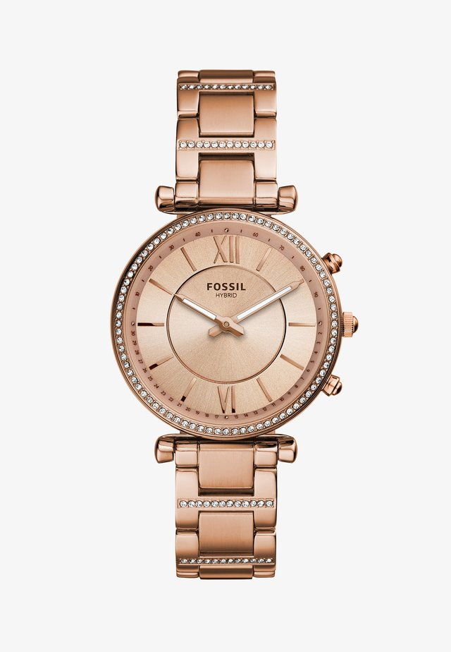 CARLIE HYBRID - Klocka - rose gold-coloured