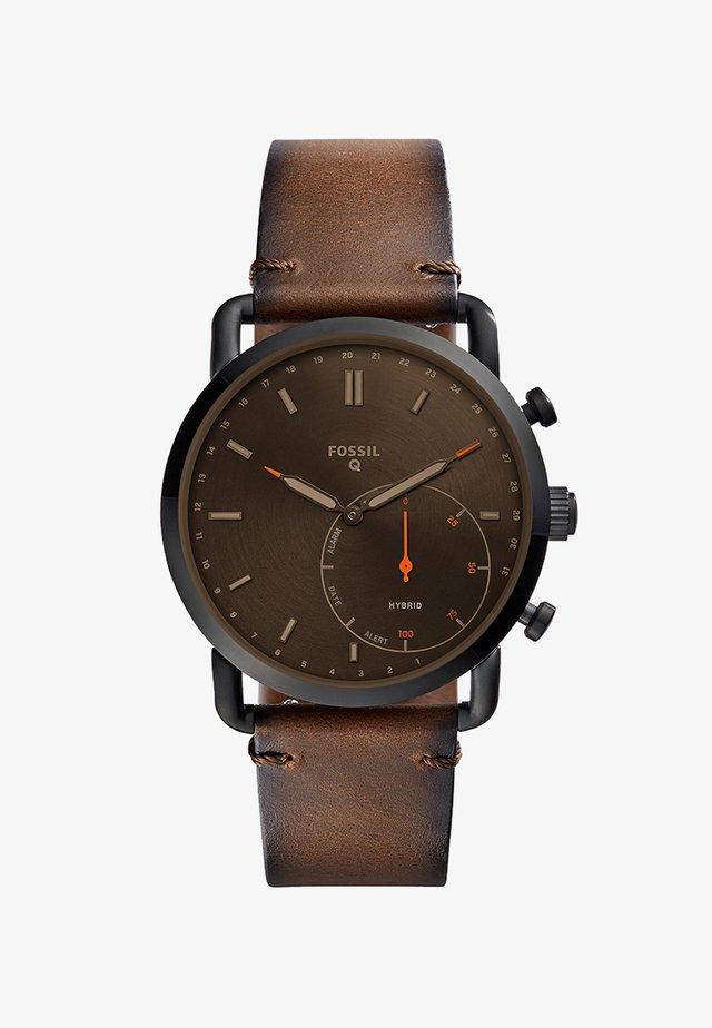 Q COMMUTER - Smartwatch - glänzend/braun