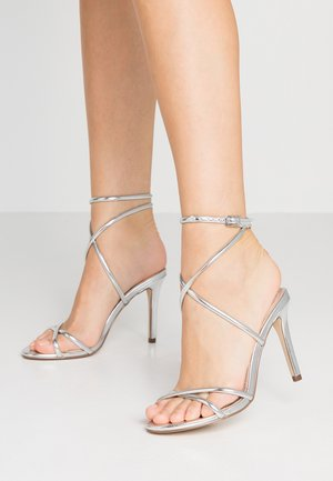 CELINA CROSS ROPE STILETTO  - High heeled sandals - silver