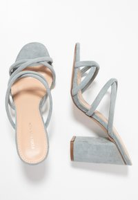 Forever New - LUNA STRAPPY MID BLOCK  - Heeled mules - ice blue - 3