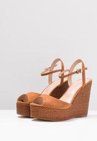 Forever New - ELIZA WEAVE WEDGE - High Heel Sandalette - tan - 4