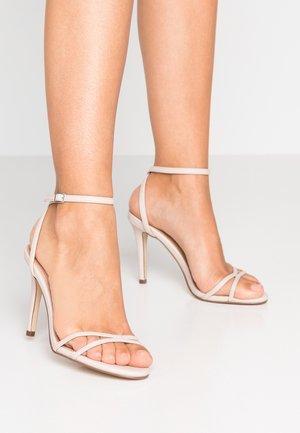 AMBER SKINNY STRAP STILETTOS - High Heel Sandalette - bone