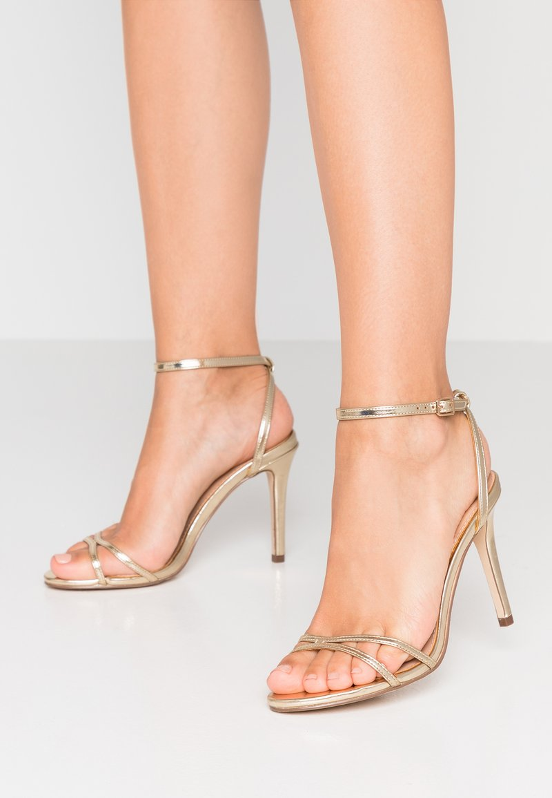 Forever New - AMBER SKINNY STRAP STILETTOS - High heeled sandals - gold