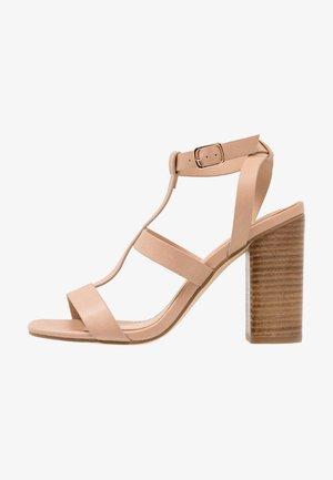 JADA CAGED  - High Heel Sandalette - nude